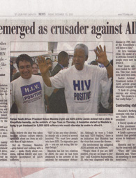 Newspapers Mandela AIDS